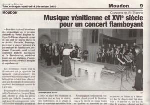 Reflet du concert de Saint-Etienne à Moudon